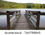 summer at the lake. lake.... | Shutterstock . vector #764798845