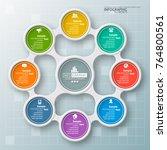 vector abstract 3d paper...   Shutterstock .eps vector #764800561