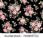 beautiful rose flower pattern   ...   Shutterstock . vector #764805721