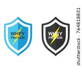 shield and whey protein   | Shutterstock .eps vector #764818831
