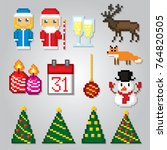 russian traditiona new year... | Shutterstock .eps vector #764820505