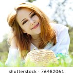 Beautiful Red Haired Girl With...