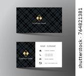 modern business card template... | Shutterstock .eps vector #764821381