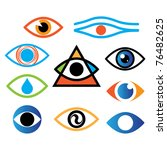collection of icons   the eye ...   Shutterstock .eps vector #76482625