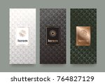 vector set packaging templates... | Shutterstock .eps vector #764827129