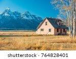 grand teton national park ... | Shutterstock . vector #764828401