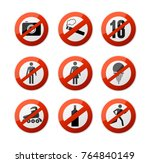 realistic 3d detailed stop...   Shutterstock .eps vector #764840149