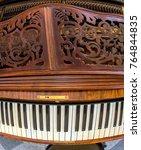 Piano Keys On Old Pianoforte