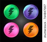 bolt of thunder crystal ball...   Shutterstock .eps vector #764847007
