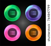 list crystal ball design icon...