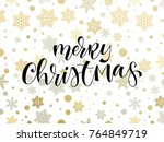 merry christmas holiday... | Shutterstock .eps vector #764849719
