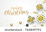merry christmas holiday... | Shutterstock .eps vector #764849791