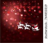 red background  chrism's santa | Shutterstock .eps vector #764853319