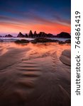seal rock in oregon at sunrise | Shutterstock . vector #764861419