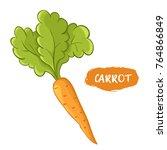 vector illustration of orange... | Shutterstock .eps vector #764866849