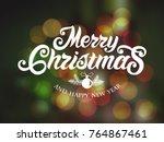 merry christmas vector text... | Shutterstock .eps vector #764867461