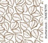 buckwheat. corn. seed. sketch.... | Shutterstock . vector #764878795