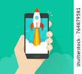 startup vector concept  flat...   Shutterstock .eps vector #764879581