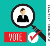 search the best person  voting...   Shutterstock .eps vector #764879965