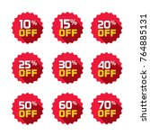 sale tags set vector badges... | Shutterstock .eps vector #764885131