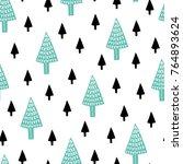 seamless scandinavian pattern.... | Shutterstock .eps vector #764893624