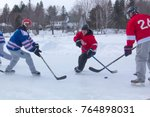 rangeley  maine usa   february... | Shutterstock . vector #764898031