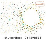 abstract background on a theme... | Shutterstock .eps vector #764898595