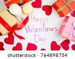 valentines day concept   Shutterstock . vector #764898754