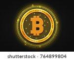 bitcoin   virlual money  ... | Shutterstock .eps vector #764899804