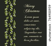 christmas mistletoe card.... | Shutterstock .eps vector #764900959
