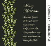 christmas mistletoe card.... | Shutterstock .eps vector #764900977
