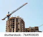 building under construction.... | Shutterstock . vector #764903035