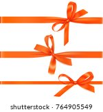 set of horizontal orange... | Shutterstock .eps vector #764905549