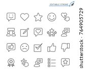 feedback and review line icons. ... | Shutterstock .eps vector #764905729