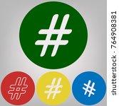 hashtag sign illustration.... | Shutterstock .eps vector #764908381