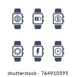 smart watch vector icons on...