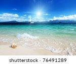 Seashell On The Beach Of Poda...