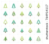 mini icon set   christmas tree... | Shutterstock .eps vector #764914117