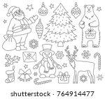 set of christmas elements.... | Shutterstock .eps vector #764914477