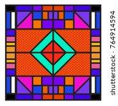 trendy geometric elements... | Shutterstock .eps vector #764914594