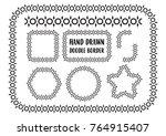 vector set of hand drawn doodle ... | Shutterstock .eps vector #764915407