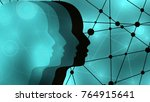 silhouettes of the head of men. ...   Shutterstock . vector #764915641