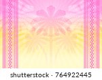 tropical hazy background with... | Shutterstock .eps vector #764922445