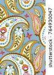 seamless paisley pattern.... | Shutterstock . vector #764930047