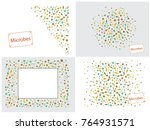 abstract background on a theme... | Shutterstock .eps vector #764931571
