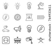 thin line icon set   bulb ... | Shutterstock .eps vector #764933611