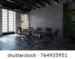an contemporary industrial... | Shutterstock . vector #764935951