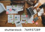 marketing analysis accounting... | Shutterstock . vector #764937289