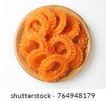 indian sweet jalebi or  imarti... | Shutterstock . vector #764948179