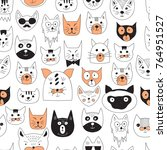 vector seamless pattern with... | Shutterstock .eps vector #764951527
